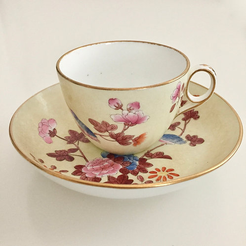 Teacup and saucer, Cuckoo pattern Wedgwood 1812-1820