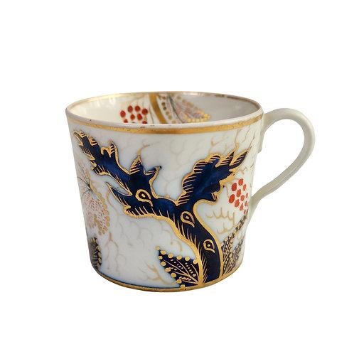 New Hall orphaned coffee can, Imari Vine, ca 1805