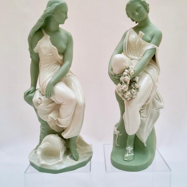 Pair of Minton parian figures