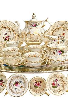 Stunning tea service, Rococo period, Rockingham ca 1832