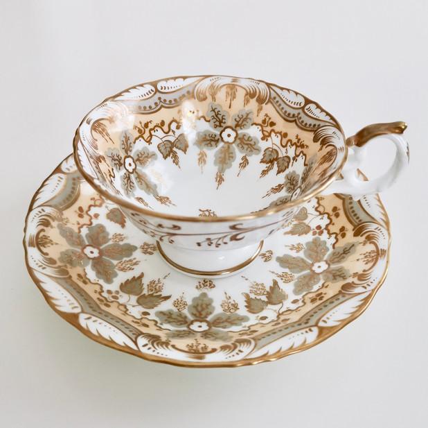 Samuel Alcock teacup, Rococo Revival ca 1845