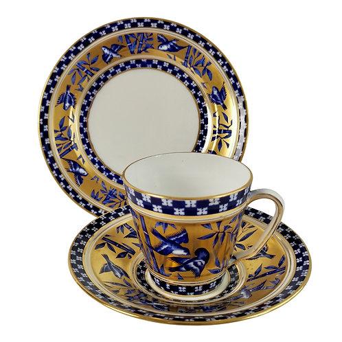 "Coalport teacup trio, ""Japanese Grove"" patt. Y62, 1875-1881 (3)"