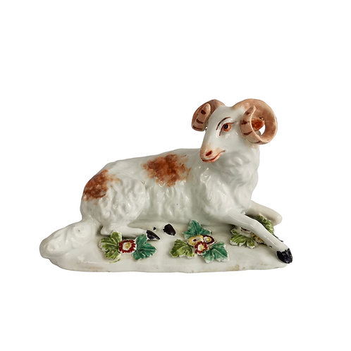 Derby Figure of recumbent ram, 1759-1769