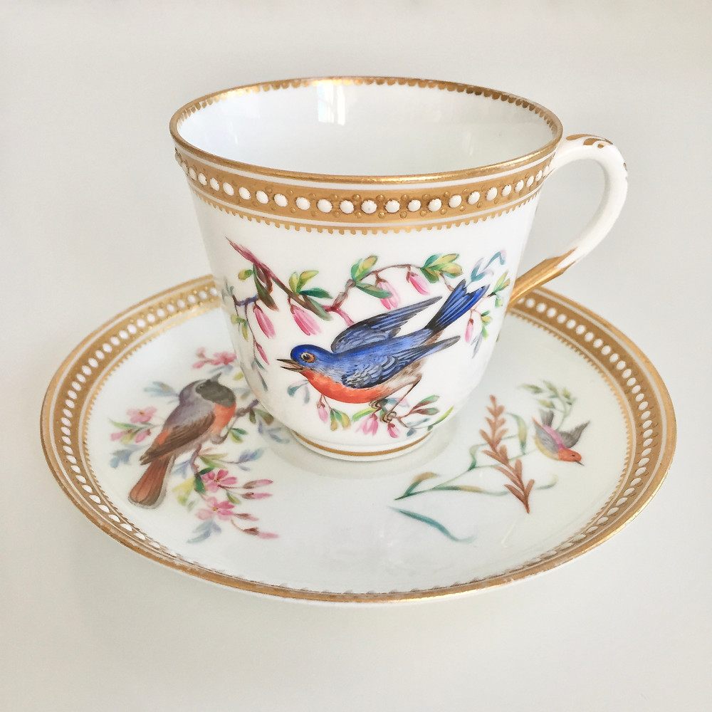 Royal Worcester teacup with birds