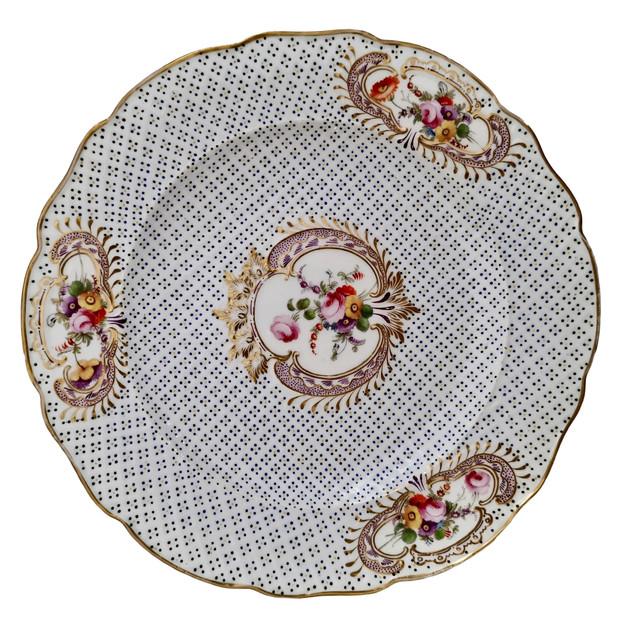 Coalport moulded Regency plate