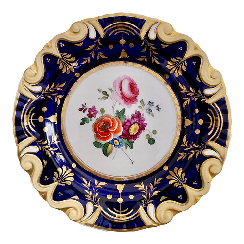 Machin moustache plate, flowers patt. 733, ca 1825