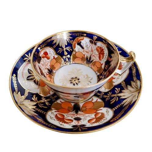 John Rose Coalport teacup, Regency Imari patt. 128, ca 1815 (1)