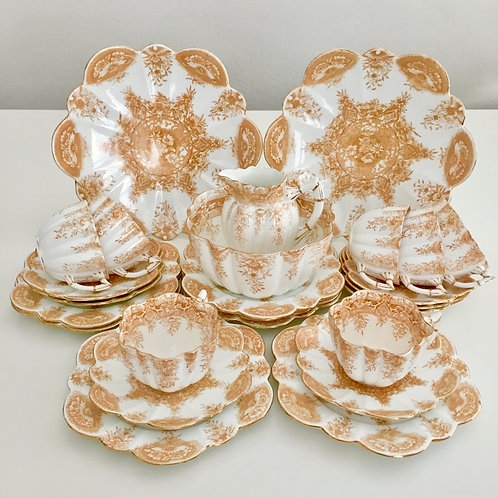 Tea set for six, Paradise pattern, Wileman 1896