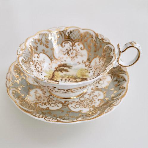 Coalport teacup, Adelaide shape patt.2/688 landscapes, 1831 (1)
