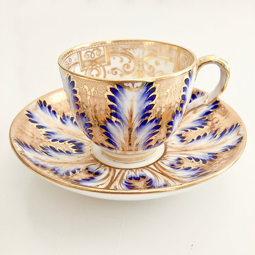 Antique coffee cup, acanthus leaves Davenport ca 1850