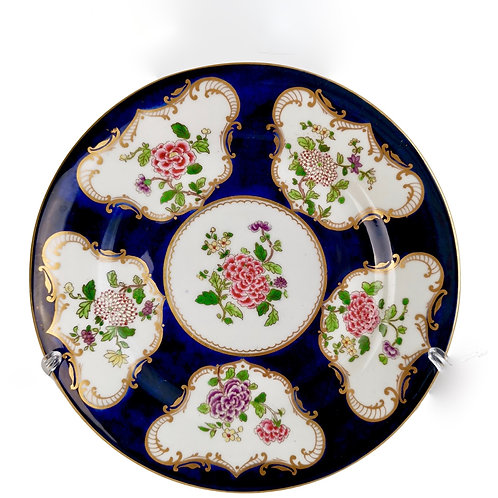 Crown Staffordshire plate, remake of Worcester Chinoiserie design, 1906-1930
