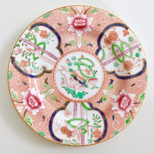 "Tea plate with ""dollar"" pattern, Ridgway ca 1812"