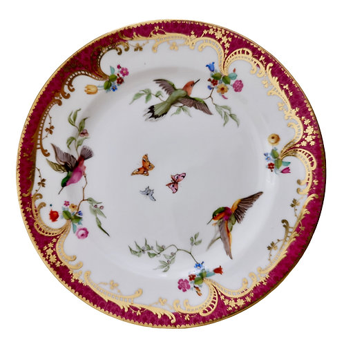 Coalport small plate, humming birds by John Randall, ca 1865 (2)