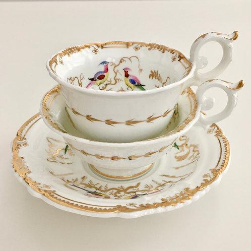 Davenport trio, birds and butterflies, Rococo Revival 1835-1840