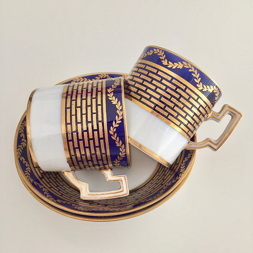 Two demitasse coffee cups, Copeland Spode 1913