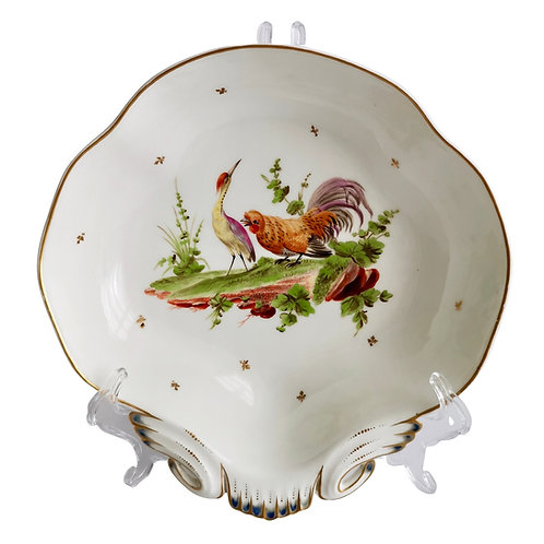 French serving dish, heron and cockerel ca 1820