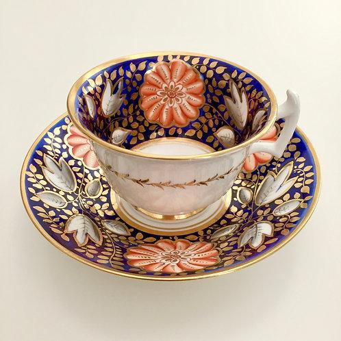 Teacup and saucer, Rathbone ca 1815 A/F