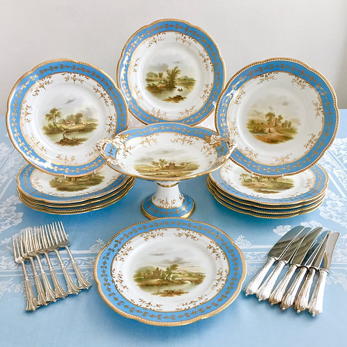 Dessert service for twelve, Ridgway ca 1855