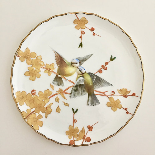 Aesthetic Movement dinner plate with birds, 1880s