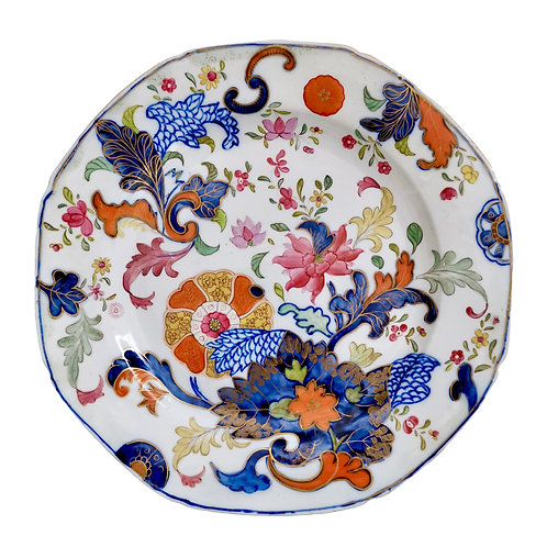 John Rose Coalport plate with Japanese kamon pattern, ca 1800