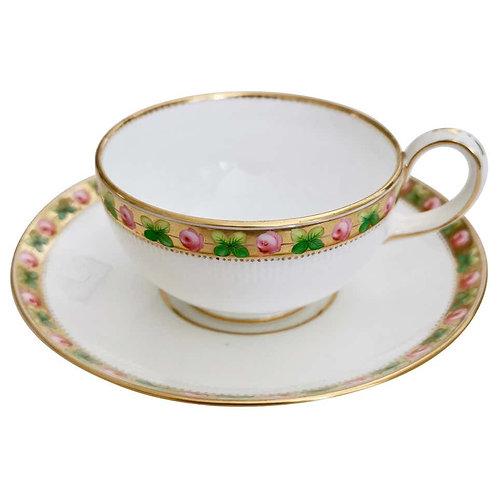 Minton teacup, patt. A1206 Paris fluted with roses, 1862