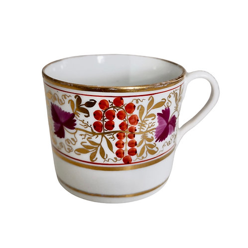 Coalport Thomas Rose orphaned coffee can, red and purple vines, ca 1805 (3)