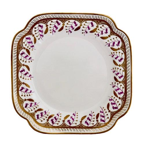 Spode Felspar cake plate, harebell pattern 3907, 1826