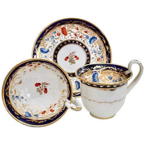 Coalport trio, patt. 629 on Empire shape, ca 1815