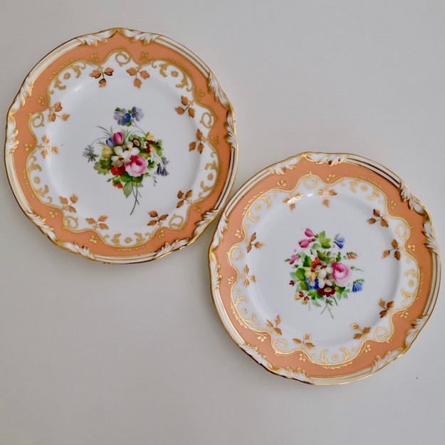 Coalport set of two plates painted by Thomas Dixon