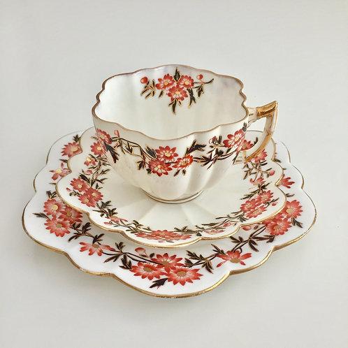 Teacup trio, Daisy Wreaths on Daisy shape, Wileman 1890