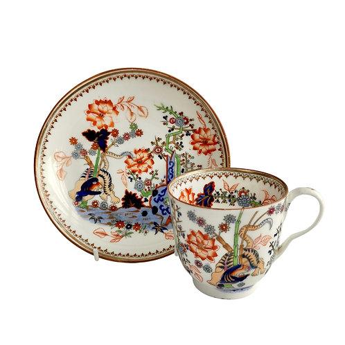 Minton coffee cup, Kakiemon tiger pattern D Regent shape, ca 1835