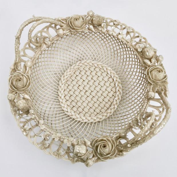 Belleek porcelain basket 2nd Period 1891-1926