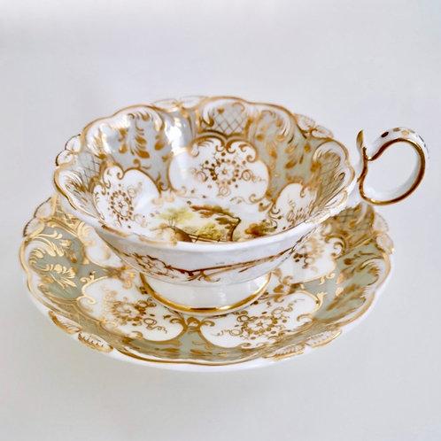 Coalport teacup, Adelaide shape patt.2/688 landscapes, 1831 (2)