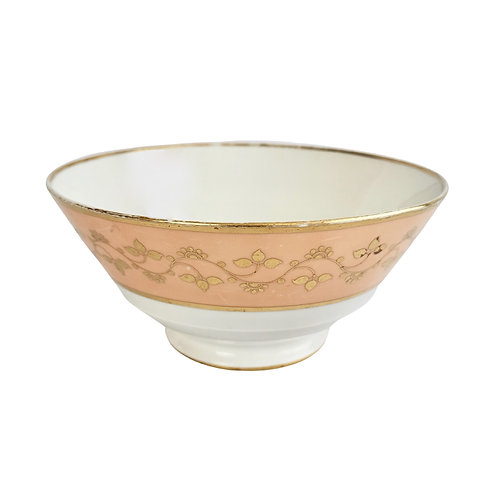Flight Barr and Barr bowl, peach with gilt, Regency ca 1815