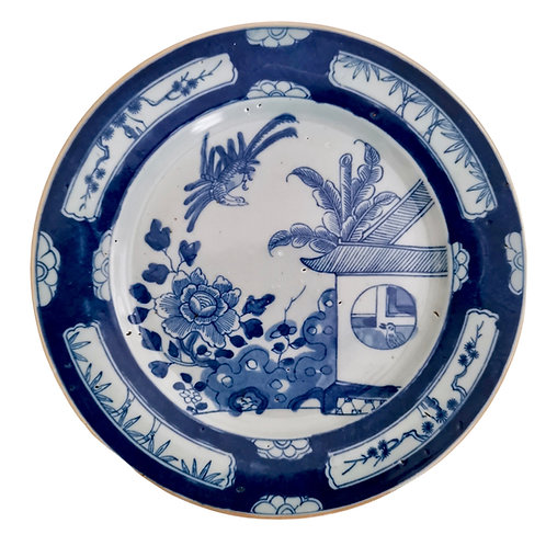 Chinese Export plate, Cuckoo in the House pattern, Yongzheng/Qianlong ca 1735