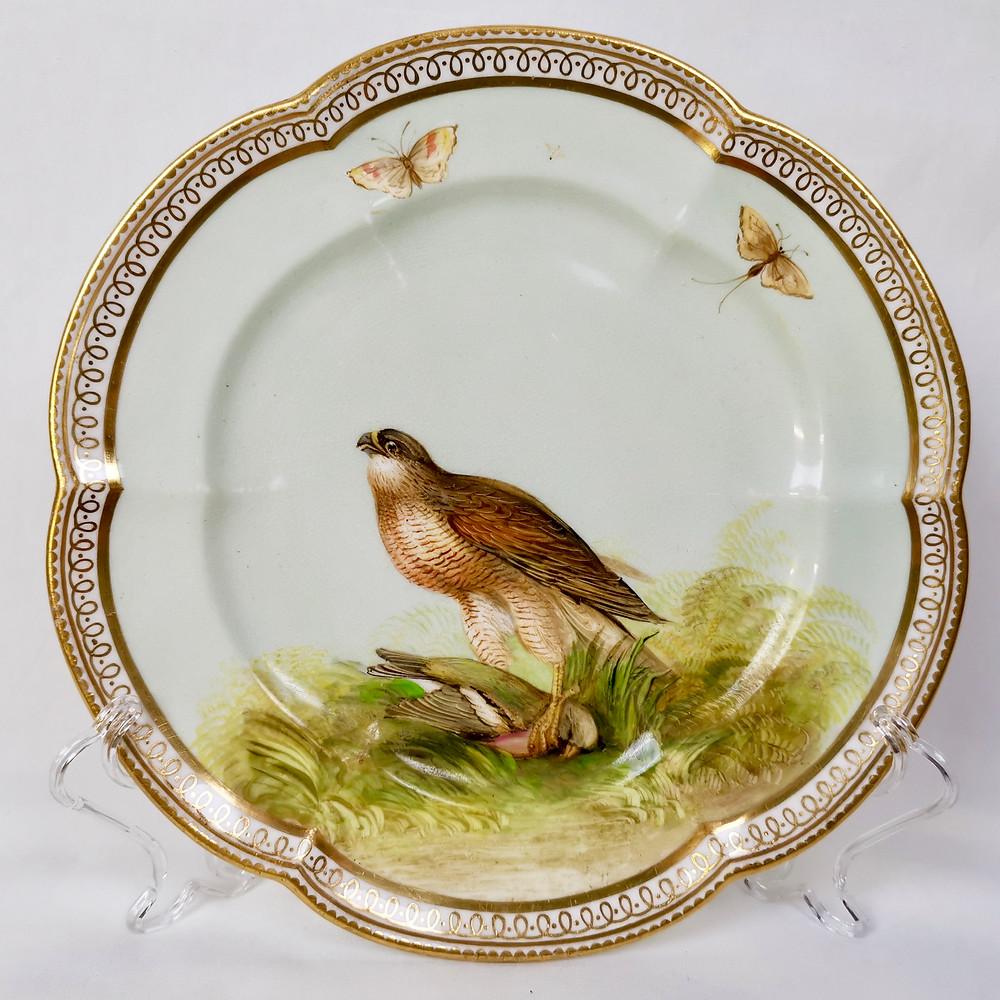 Coalport dessert plate painted by John Randall