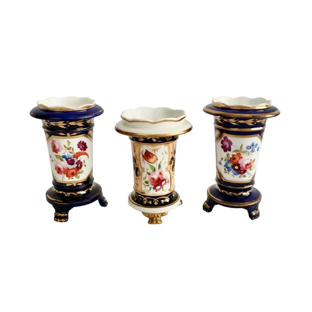 Three spill vases, Regency