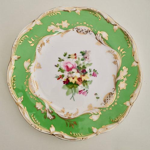 Coalport dessert plate painted by Thomas Dixon, 1850