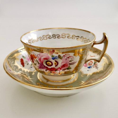 Hicks & Meigh teacup and saucer, ca 1822