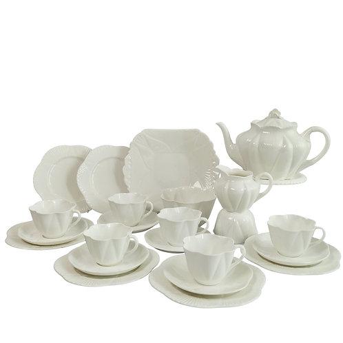 "Shelley ""Dainty White"" full tea service, 1910-1966"