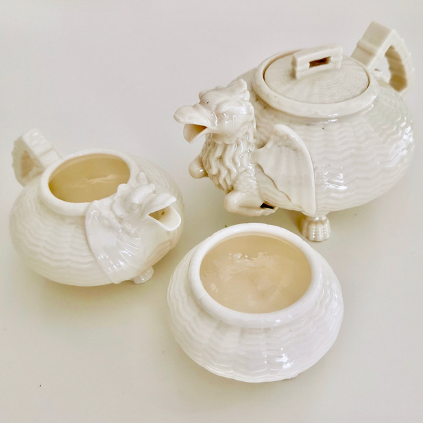 Belleek Chinese Dragon tea set