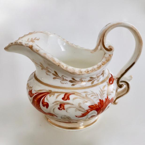 Coalport Pembroke shape milk jug, ca 1820
