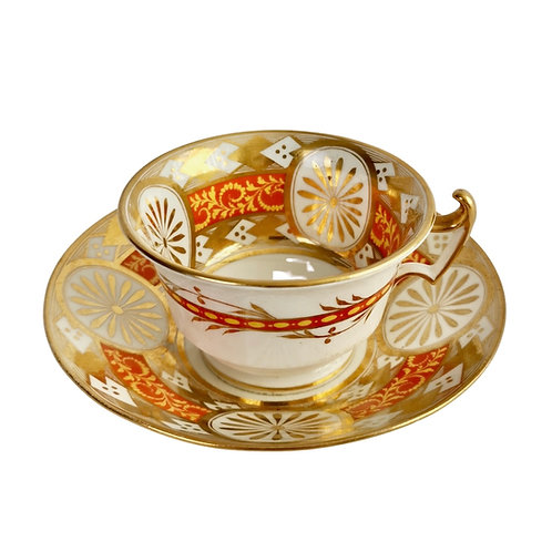 Anstice, Horton & Rose teacup, gilt Regency pattern, ca 1815