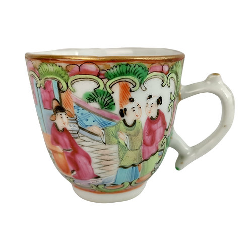 Chinese Export orphaned coffee cup, famille verte Qianlong 1760-1780