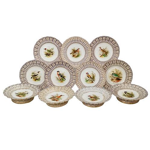 Minton dessert service, named birds Joseph Smith, 1851