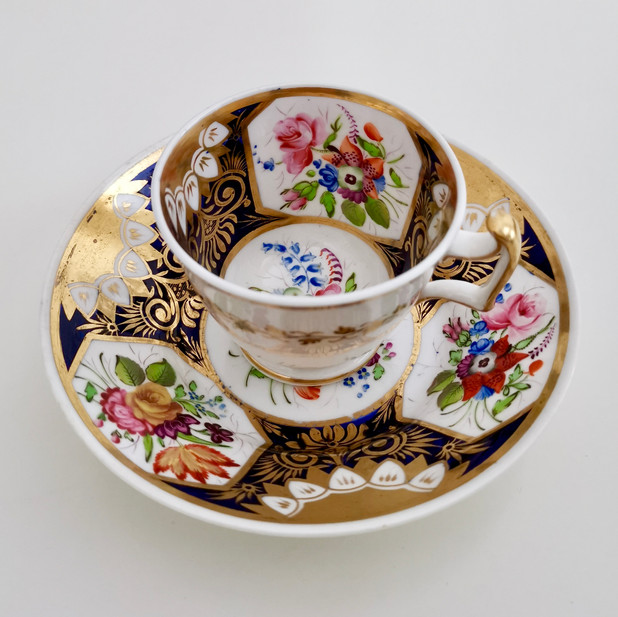 New Hall coffee cup pattern 2101, ca 1815