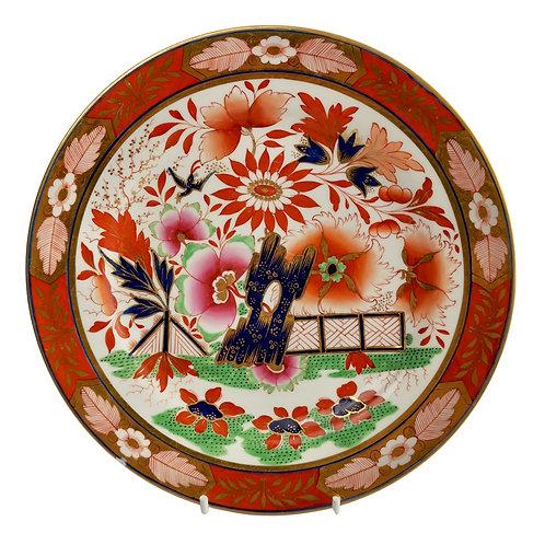 Barr Flight & Barr plate, Imari Fence pattern, 1811-1813 (A/F)