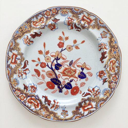 Spode stone china plate, Imari pattern 3126, 1812-1833