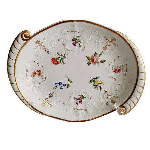 Staffordshire serving dish, fine Union moulding, ca 1801-1820