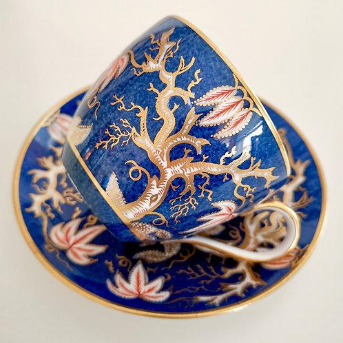 Copeland Spode teacup, blue scale Imari Vine, 1890s A/F